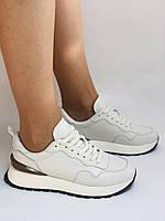 Farinni. Натуральная кожа. Женские белые кеды-кроссовки. Размер 37.38.39., фото 4