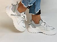 Стильні жіночі кеди-білі кросівки.Натуральна шкіра. Висока якість 38-40 Vellena, фото 2