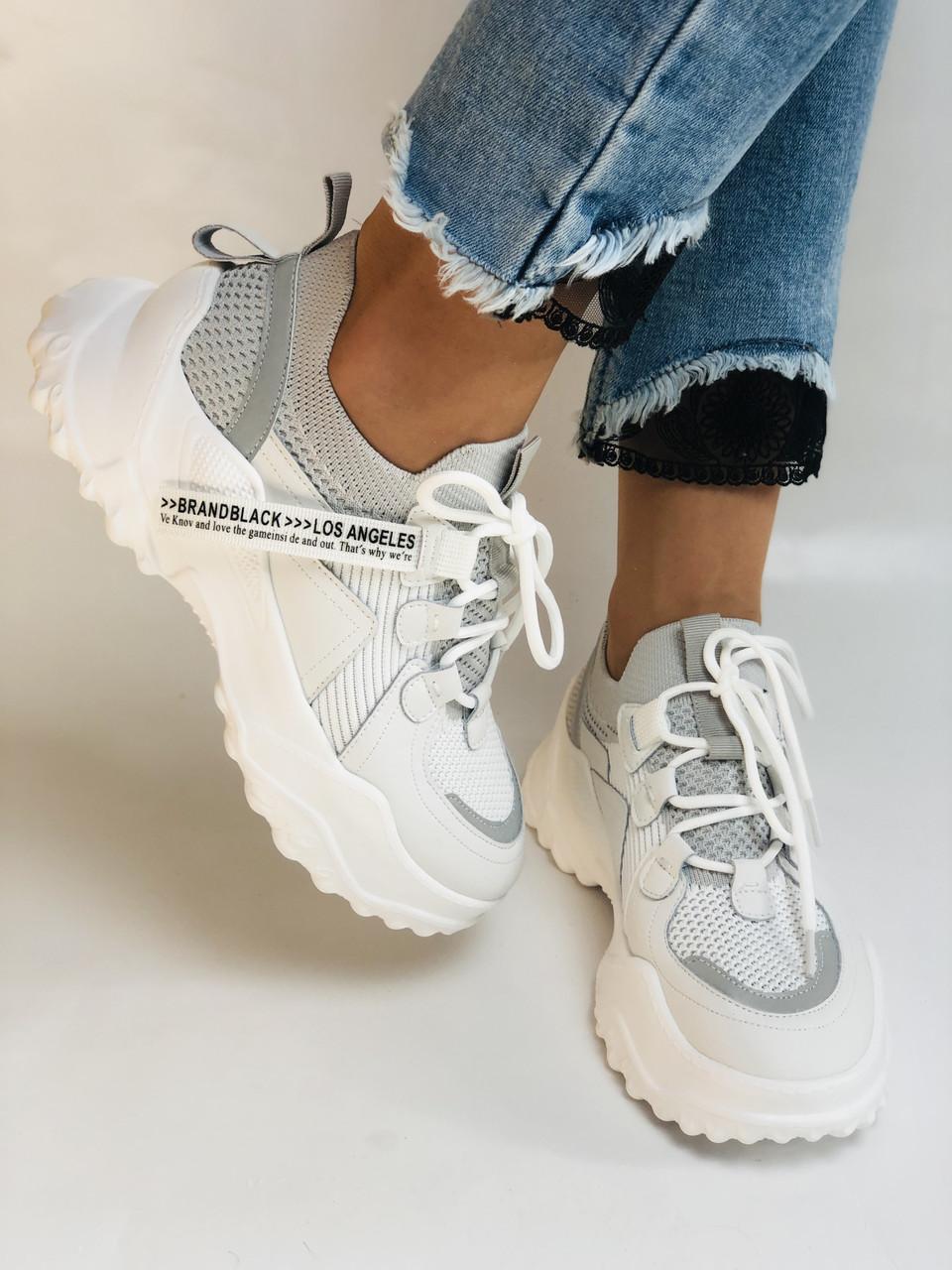 Стильні жіночі кеди-білі кросівки.Натуральна шкіра. Висока якість 38-40 Vellena