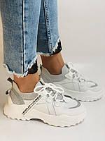 Стильні жіночі кеди-білі кросівки.Натуральна шкіра. Висока якість 38-40 Vellena, фото 3