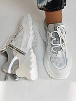Стильні жіночі кеди-білі кросівки.Натуральна шкіра. Висока якість 38-40 Vellena, фото 8