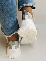 Стильні жіночі кеди-білі кросівки.Натуральна шкіра. Висока якість 38-40 Vellena, фото 7