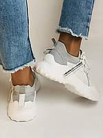 Стильні жіночі кеди-білі кросівки.Натуральна шкіра. Висока якість 38-40 Vellena, фото 9
