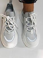 Стильні жіночі кеди-білі кросівки.Натуральна шкіра. Висока якість 38-40 Vellena, фото 10