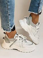 Стильні жіночі кеди-білі кросівки.Натуральна шкіра. Висока якість 38-40 Vellena, фото 4