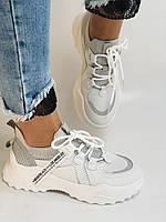 Стильні жіночі кеди-білі кросівки.Натуральна шкіра. Висока якість 38-40 Vellena, фото 6