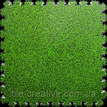 Підлога пазл - модульне підлогове покриття 600x600x10мм зелена трава