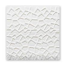 Самоклеюча декоративна настінно-стельова 3D панель павутина 700х700х5мм