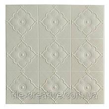 Самоклеюча декоративна настінно-стельова 3D панель квітка 700x700x5.5мм