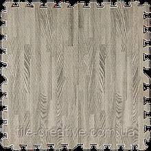 Підлога пазл - модульне підлогове покриття 600x600x10мм сіре дерево