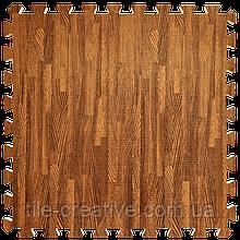 Підлога пазл - модульне підлогове покриття 600x600x10мм червоне дерево