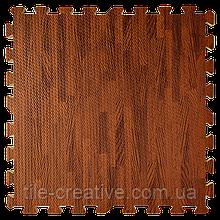 Модульне підлогове покриття 600*600*10 мм темне дерево