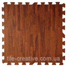 Підлога пазл - модульне підлогове покриття 600x600x10мм темне дерево