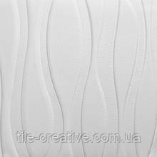 Гладенький папір декоративна настінно-стельова 3D панель великі хвилі 700х700х7мм