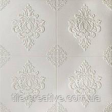 Гладенький папір декоративна 3D панель візерунковий ромб 700х700х6мм