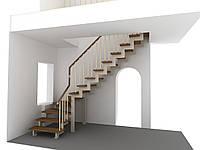 Сходи на другий поверх на металевому каркасі