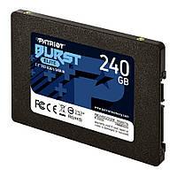 """Накопитель SSD 2.5"""" 240GB Patriot Burst Elite (PBE240GS25SSDR) R560MBs W540MBs SATA III 7мм новый"""