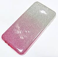 Чохол силіконовий Shiny з блискітками для Samsung Galaxy J5 Prime G570f Сріблясто-рожевий
