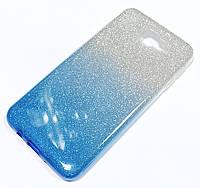 Чохол силіконовий Shiny з блискітками для Samsung Galaxy J5 Prime G570f Синьо-рожевий