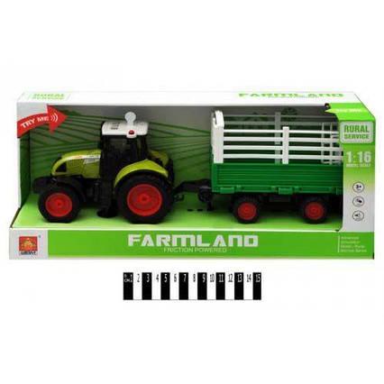 """Трактор с прицепом """"FARMLAND"""", музыкальный WY900H"""