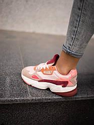 Женские кроссовки Adidas Falcon Pink Burgundy, Адидас Фалкон