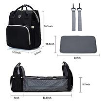 Рюкзак-кроватка для мам Baby Travel Bed-Bag Водонепроницаемая сумка рюкзак для мамы с ковриком для пеленания, фото 2