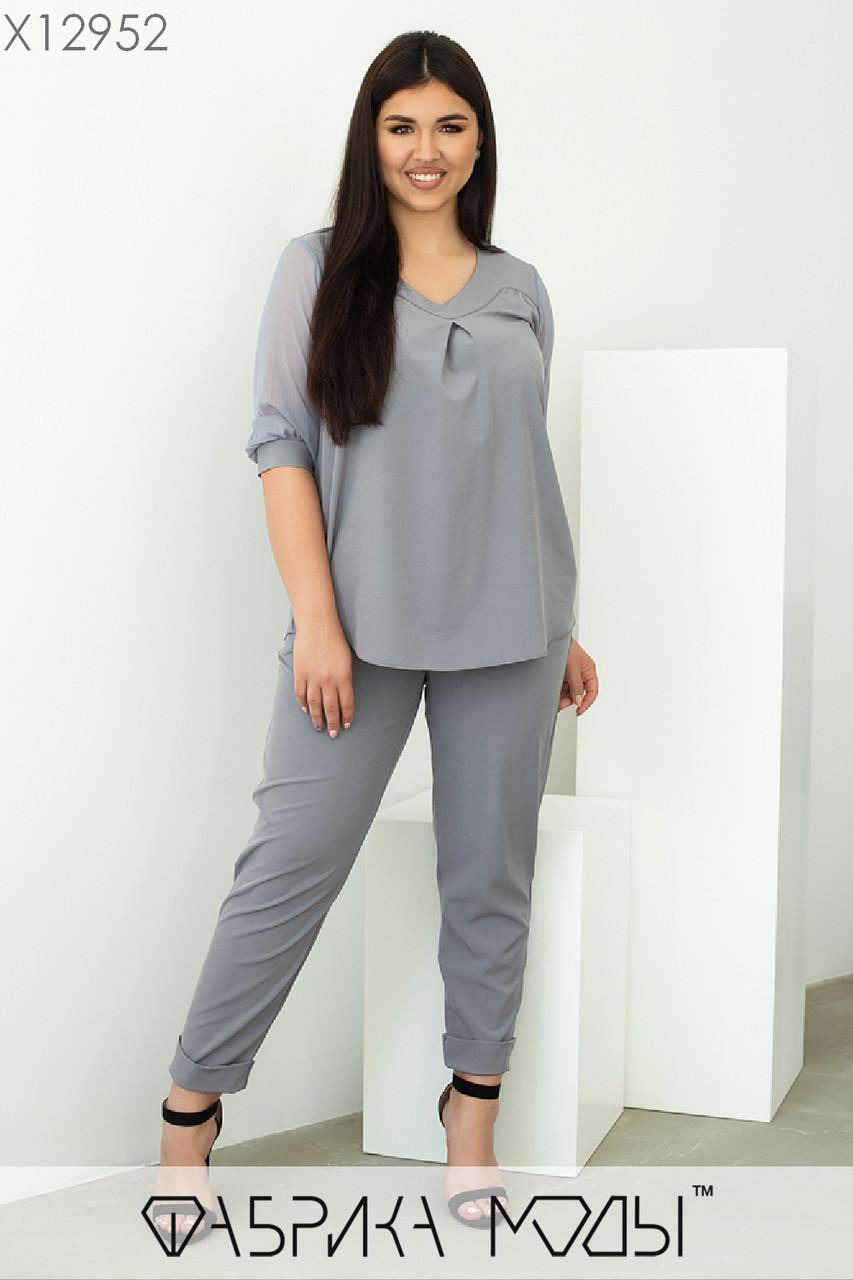 Повсякденний жіночий костюм батал р. 48-62 Фабрика Моди XL