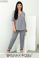 Повсякденний жіночий костюм батал р. 48-62 Фабрика Моди XL, фото 1