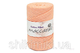 Трикотажный хлопковый шнур Cotton Filled 5 мм, цвет Персиковый