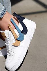 Жіночі кросівки Nike Air Force 1 07 Lv8 3 Removable Swoosh, Найк Аір Форс 1