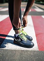 Женские кроссовки Nike Air Force 1 Vandalized Iridescent Green Black, Найк Аир Форс 1
