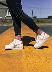 Женские кроссовки Nike Air Force 1 Low Digital Pink Adds Beige Soles, Найк Аир Форс 1