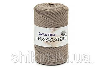 Трикотажный хлопковый шнур Cotton Filled 5 мм, цвет Мокачино