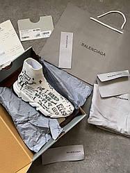 Женские кроссовки Balenciaga Speed Trainer Tess S Gomma Maile Noir, Balenciaga Спид Треинер