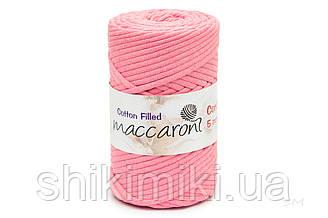 Трикотажный хлопковый шнур Cotton Filled 5 мм, цвет Розовый