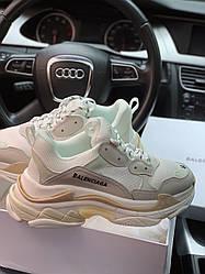Женские кроссовки Balenciaga Triple S White, Баленсиага Трипл С