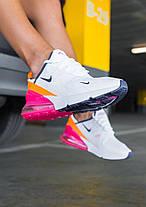 Жіночі кросівки Nike Air Max 270 White/Pink, Найк Аір Макс 270, фото 3