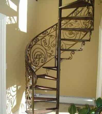 Винтовые лестницы металлические