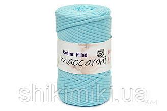 Трикотажный хлопковый шнур Cotton Filled 5 мм, цвет Аквамарин