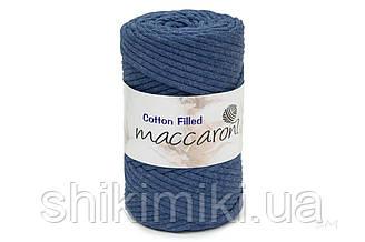 Трикотажный хлопковый шнур Cotton Filled 5 мм, цвет Синий джинс