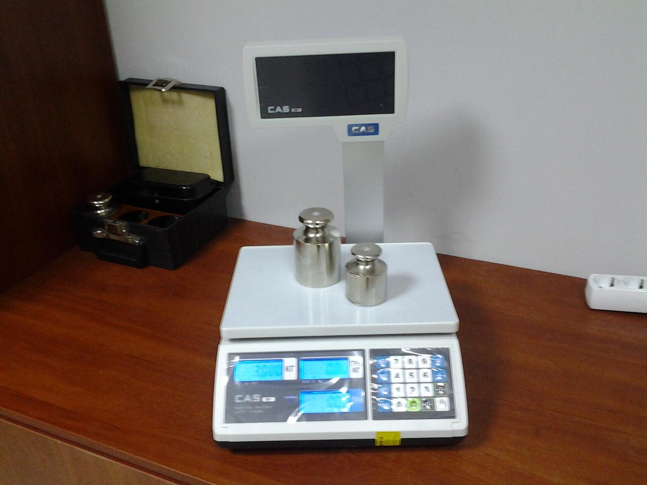 Весы электронные настольные со стойкой CAS ER-JR-CBU (6кг,15кг,30кг)