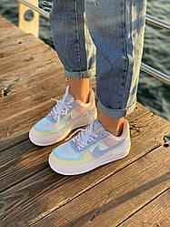 Женские кроссовки Nike Air Force Shadow Multicolor, Найк Аир Форс