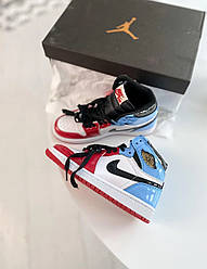 Кроссовки Nike Air Jordan 1 Retro High Blue Red, Найк Аир Джордан