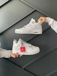 Кроссовки Nike Air Jordan Retro 4 White, Найк Аир Джордан