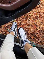 Кроссовки Nike Air Jordan 1 Navy Blue/White, Найк Аир Джордан