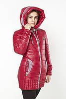 Женская куртка на холлофайбере Teks N-328 малиновый скидка
