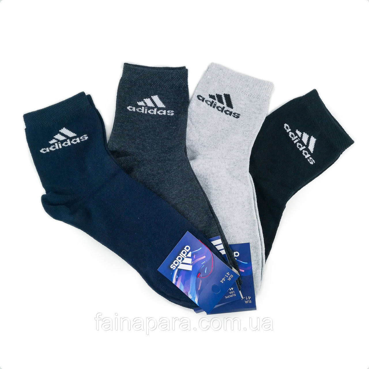 Мужские спортивные средние хлопковые носки Adidas