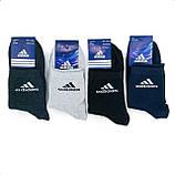 Мужские спортивные средние хлопковые носки Adidas, фото 2