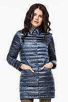 Женская куртка Braggart осенне-весенняя легкая цвет темная лазурь модель 41323