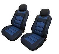 Чехлы-накидки на передние сиденья универсальные темно синие